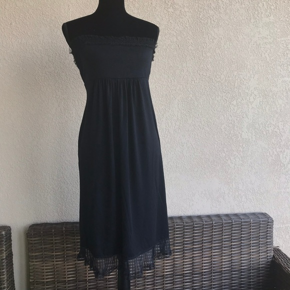 Maternal America Dresses & Skirts - Maternal America Black Strapless Dress Mesh Lace S